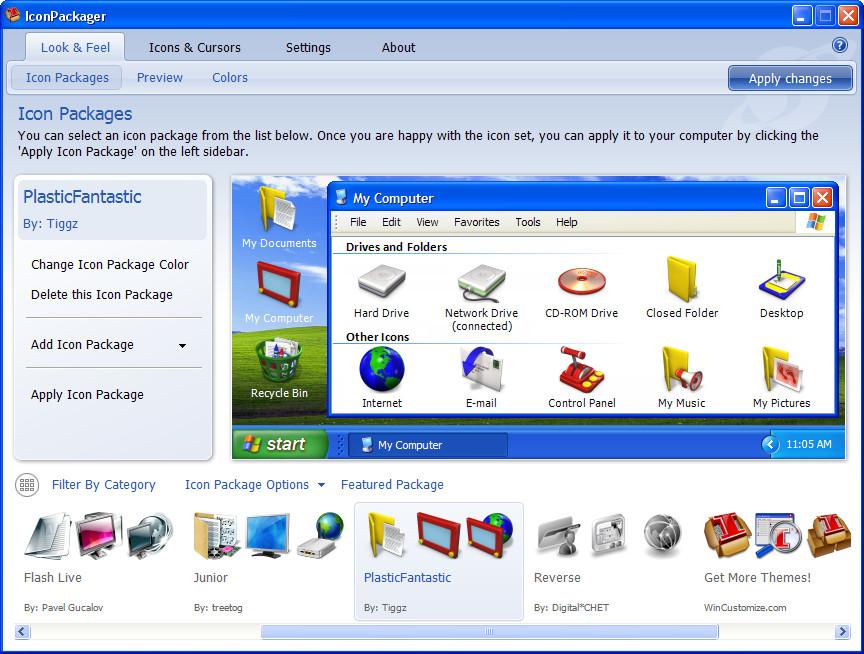 IconPackager - одна из лучших программ для изменения иконок Windows
